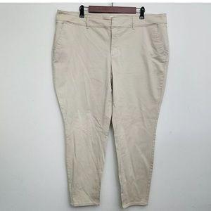 LOFT PLUS SKINNY CHINO PANTS 18 W